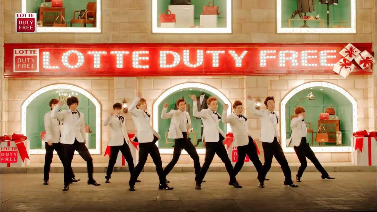 【韓國樂天LOTTE免稅店 x 飛翔駱駝網路商城】Super Junior vs Gao Yuanyuan (CHN ver.) - YouTube
