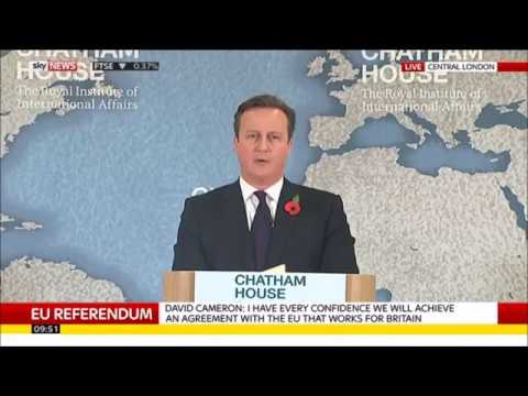 David Cameron: There will not be a second referendum on the Brexit terms