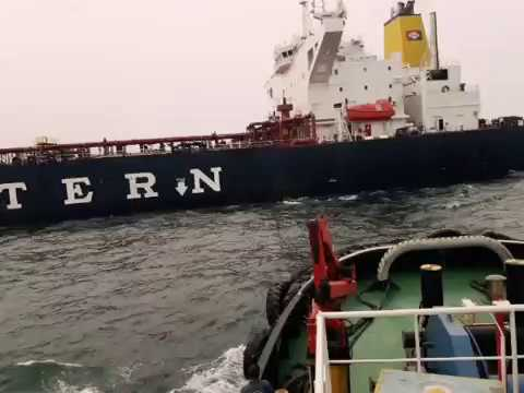 Near to great eastern ship, crude oil tanker