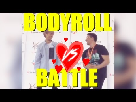 BODYROLL BATTLE?! JuNCurryAhn VS JRE [KCON MEXICO 2017]