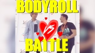 BODYROLL BATTLE?! JuNCurryAhn VS JRE [KCON MEXICO 2017]