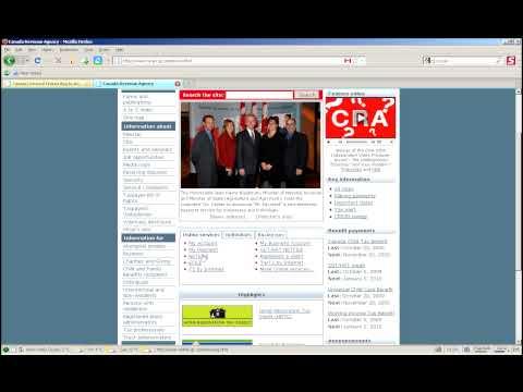 How To Use Canada Revenue Agency Website