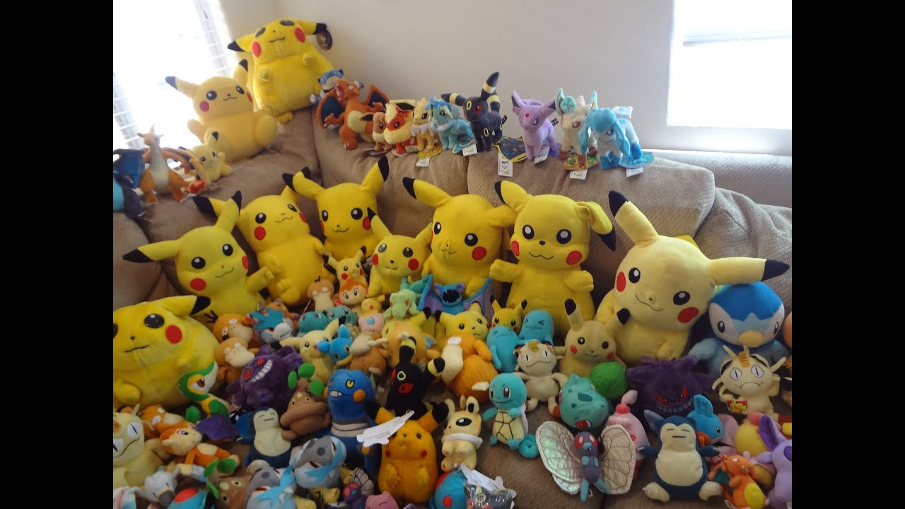giant pokemon plush collection huge maybe one of world 39 s largest for sale youtube. Black Bedroom Furniture Sets. Home Design Ideas