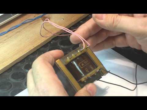 Transformador de salida audio para valvula de sonido.(Adaptación)