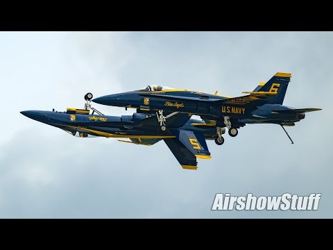 US Navy Blues Angels (Clips) - Terre Haute Airshow 2018