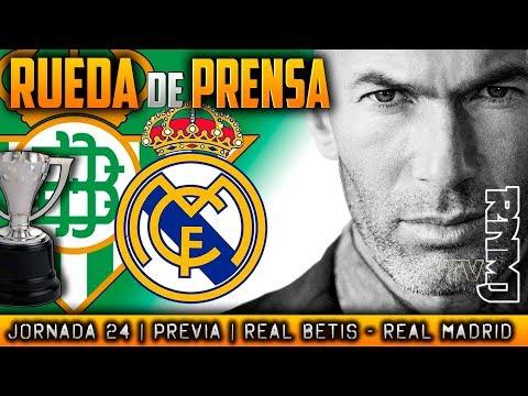 Betis - Real Madrid Rueda de prensa de Zidane (17/02/2018) | PREVIA LIGA JORNADA 24