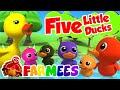 Lima bebek kecil   Lagu anak anak terpopular   Farmees Indonesia   kartun pendidikan anak