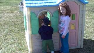 The Kids Playing In The Play House