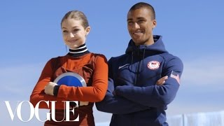 Gigi Hadid and Olympian Ashton Eaton Film With A Selfie Stick, Watch What Happens | Vogue