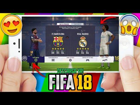 DOWNLOAD FIFA 18 PARA ANDROID CON FICHAJES INVIERNO / KITS 18/19 ACTUALIZADOS / NARRACIÓN EN ESPAÑOL