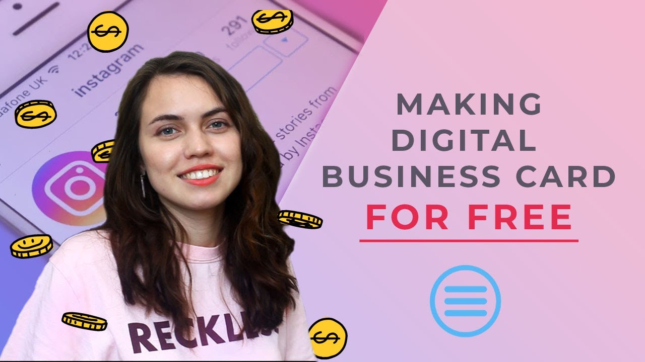 how to make instagram digital business card for free  youtube
