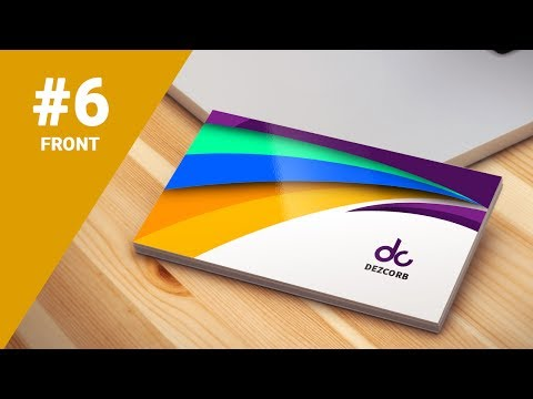 #6 how to design business cards in photoshop cs6 | Colorful 3D | Front