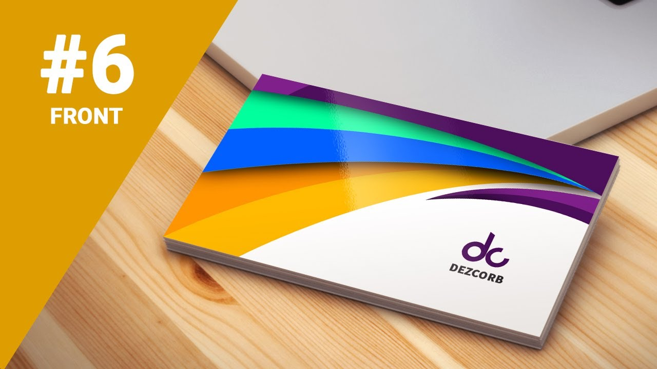 6 how to design business cards in photoshop cs6 colorful 3d front - 3 D Business Card