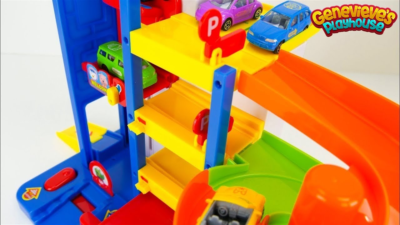 Pororo the Little Penguin Đồ chơi đầy màu sắc Xe ô tô Playset!