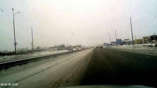 Авария 05 01 2017 Тольятти перекресток Обводное шоссе и Борковская дорога
