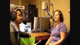 DJ Sadiq with Jennifer Tipton  and Steve Franklin in Nostalgic with Sadiq ,KVRX 91.7 FM
