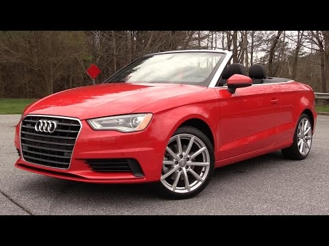 2016 Audi A3 20t Quattro Cabriolet  Start Up, Road Test & In Depth Review