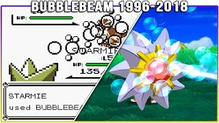 Evolution of BubbleBeam - Pokémon Moves (1996-2018)