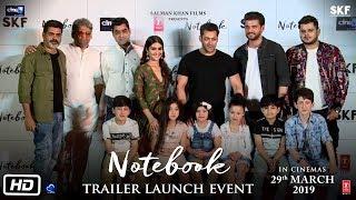 Notebook   Trailer Launch Event   Salman Khan, Pranutan Bahl, Zaheer Iqbal, Nitin Kakar