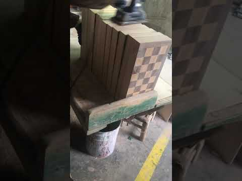 Chess Box Polish before cutting