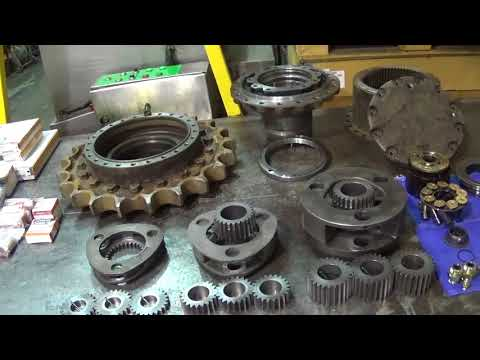 C.J. Plant Limited - Hitachi ZX225 Final drive Strip, Clean and Rebuild.