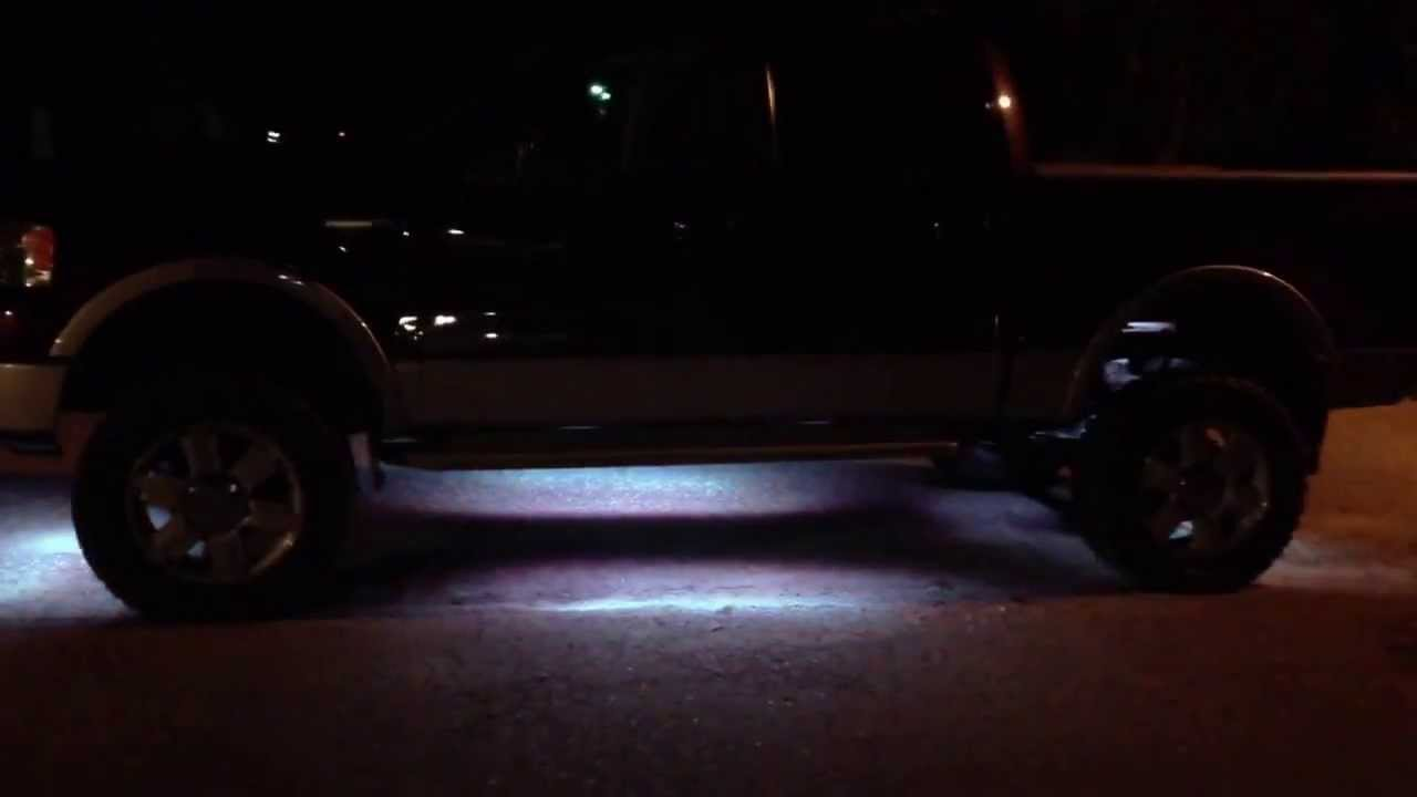 Ford F150 King Ranch >> ford f-150 king ranch underglow and interior lighting - YouTube