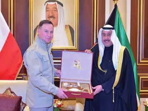 الشيخ فيصل الحمود استقبل رئيس جمهورية بولندا الصديقة