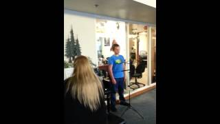 Isaiah singing Valdez Senior Citizens' Center