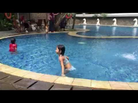 Swimming at Dusit Hotel Balikpapan