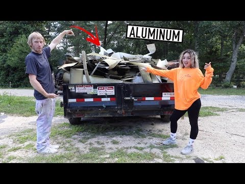 HUGE SCRAP METAL HAUL - Dump Trailers Full Of Aluminum And Cast Iron!