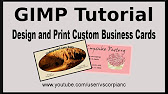 How to make a business card in gimp 28 youtube 2929 reheart Image collections