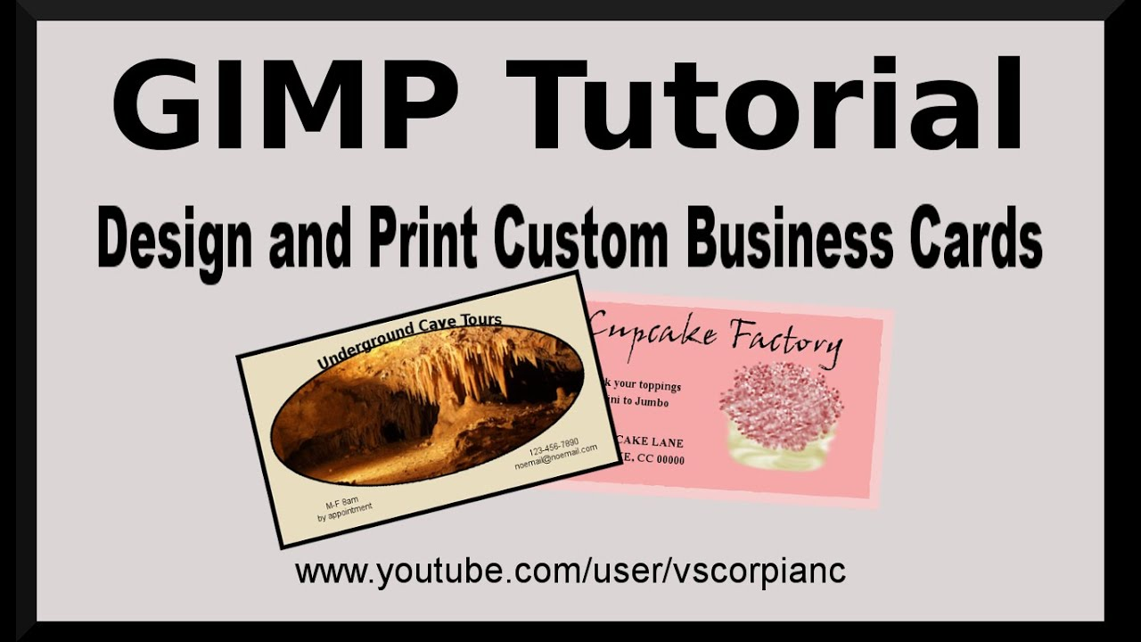 gimp tutorial design your own business cards for printing by