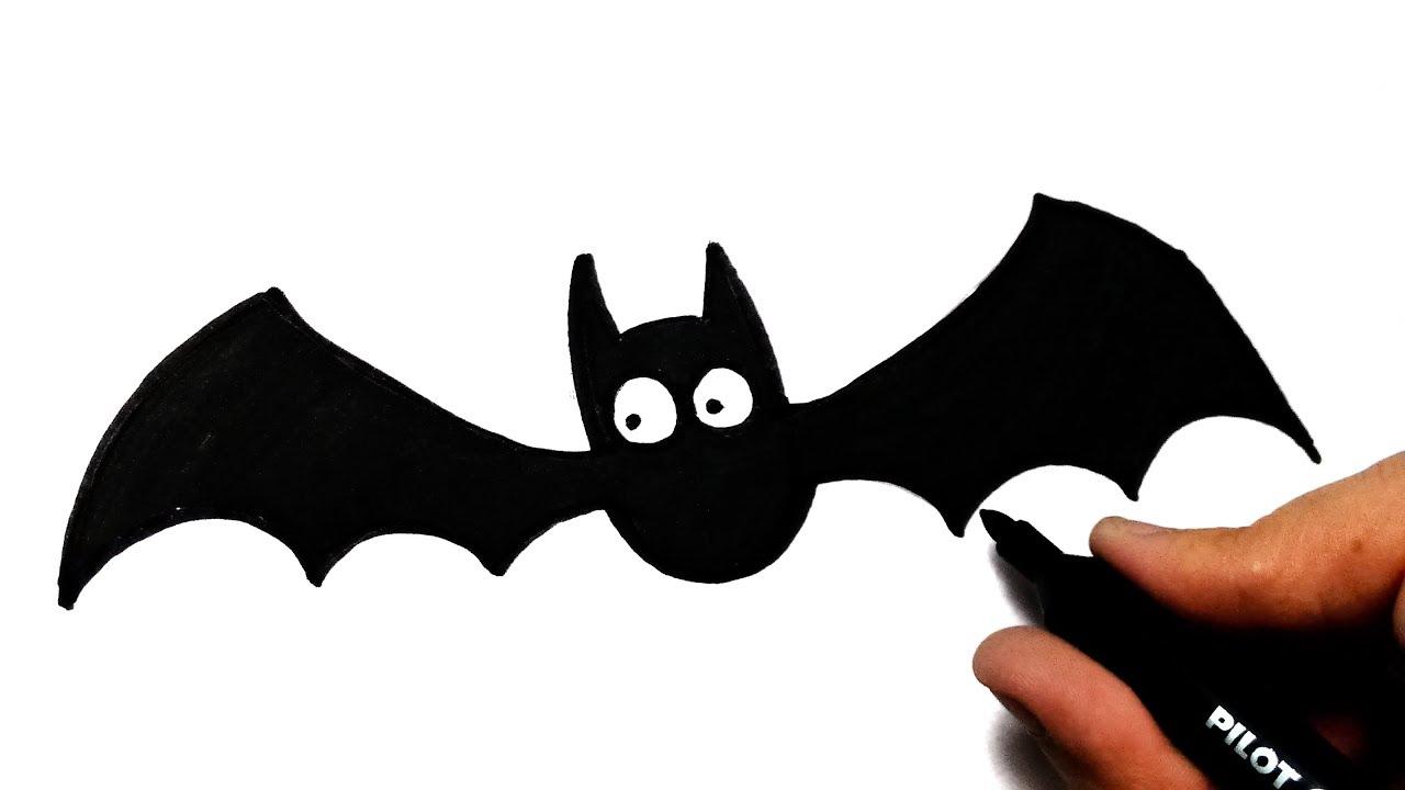 Muitas vezes COMO DESENHAR UM MORCEGO DE HALLOWEEN - HOW TO DRAW A BAT OF  EA93