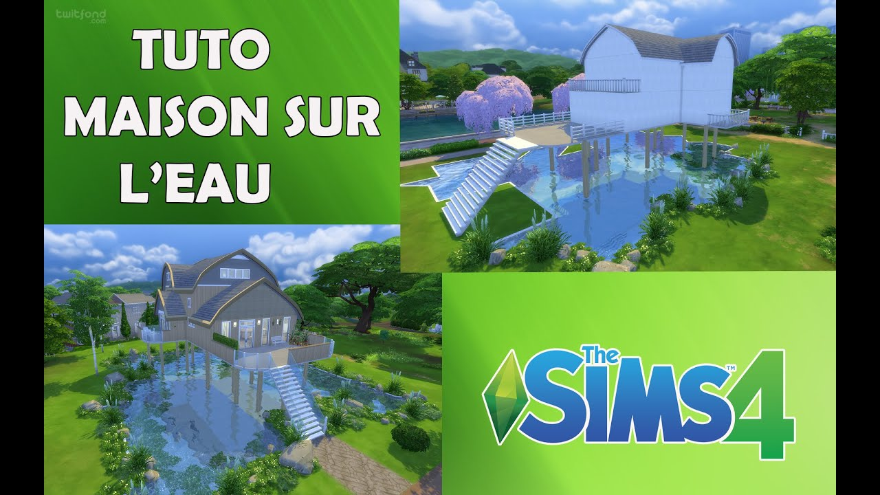 les sims 4 tuto maison sur l 39 eau youtube. Black Bedroom Furniture Sets. Home Design Ideas