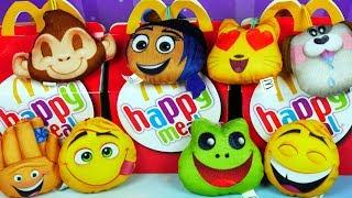 Happy Meal & Emotki Film • Maskotki w kształcie emotikonek • Zabawki z McDonalds • Unboxing