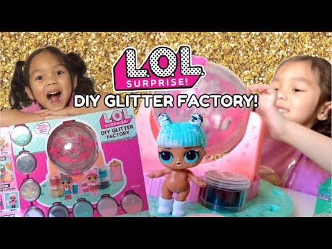 LOL DIY GLITTER FACTORY GIVEAWAY WINNER - REVIEW - PLAY