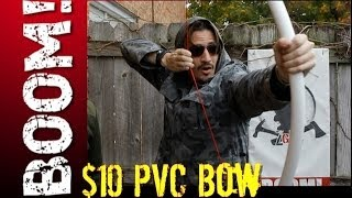 EASY $10 PVC BOW! - ZOMBIE SURVIVAL HACK!