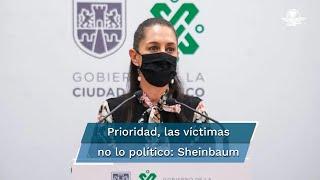 La jefa de Gobierno señaló que la prioridad es atender a las víctimas y a sus familias e investigar a fondo causas del accidente en la estación Olivos del Metro CDMX