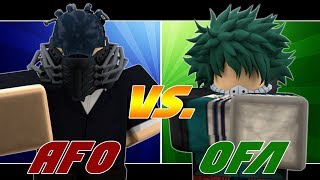 Legendary AFO vs OFA Quirk (Which Is Better ?) in Heroes Online! | Roblox | TerraBlox