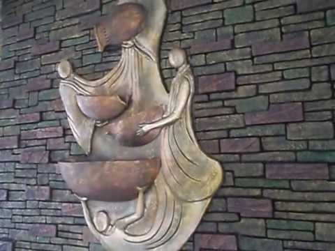 Wall Mounted Sculpture Fountain By Creativebrahma Youtube