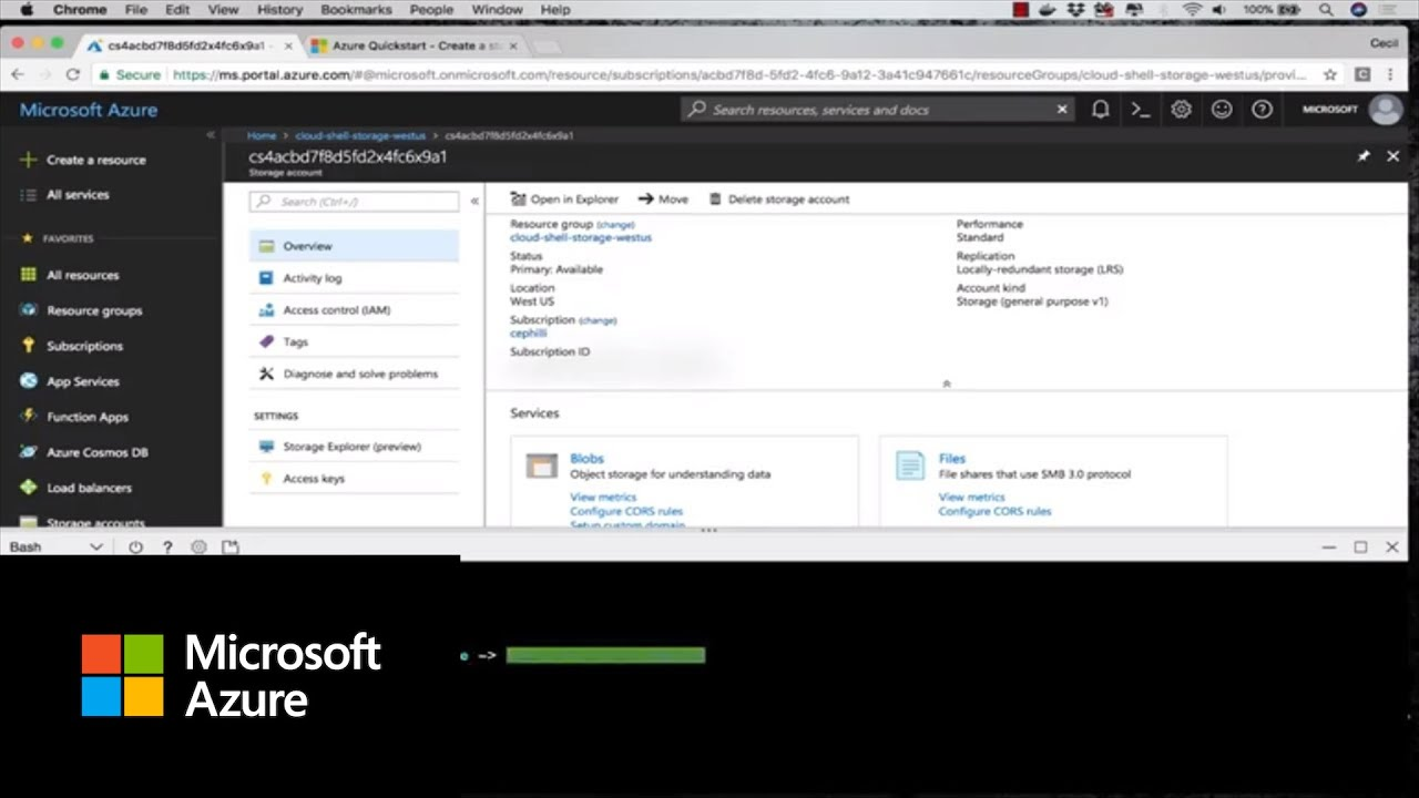 How the Azure Cloud Shell uses storage   Azure Tips and Tricks