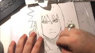 Inking and coloring Uchiha sasuke from naruto