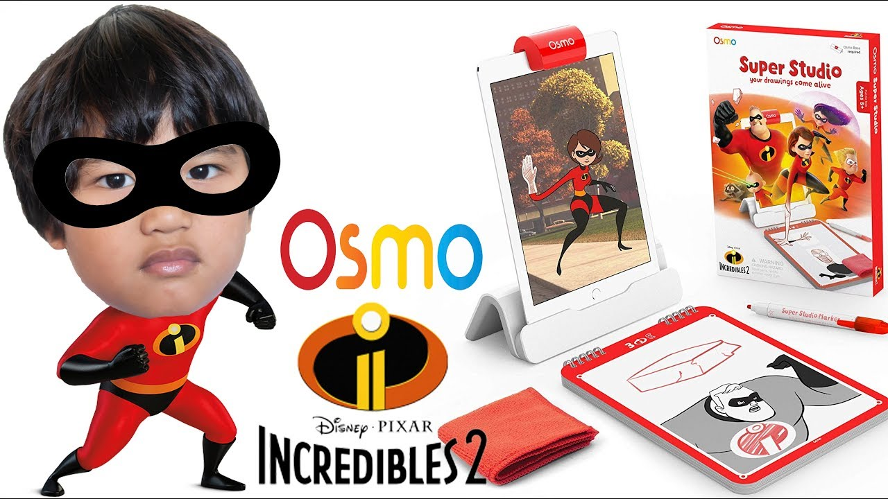 3527b4698b3 Disney Pixar Incredibles 2 OSMO SUPER STUDIO Learn How to Draw! Toy Review