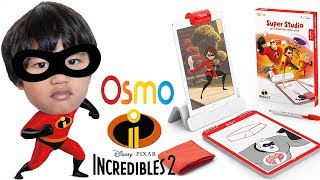 Disney Pixar Incredibles 2 OSMO SUPER STUDIO Learn How to Draw! Toy Review