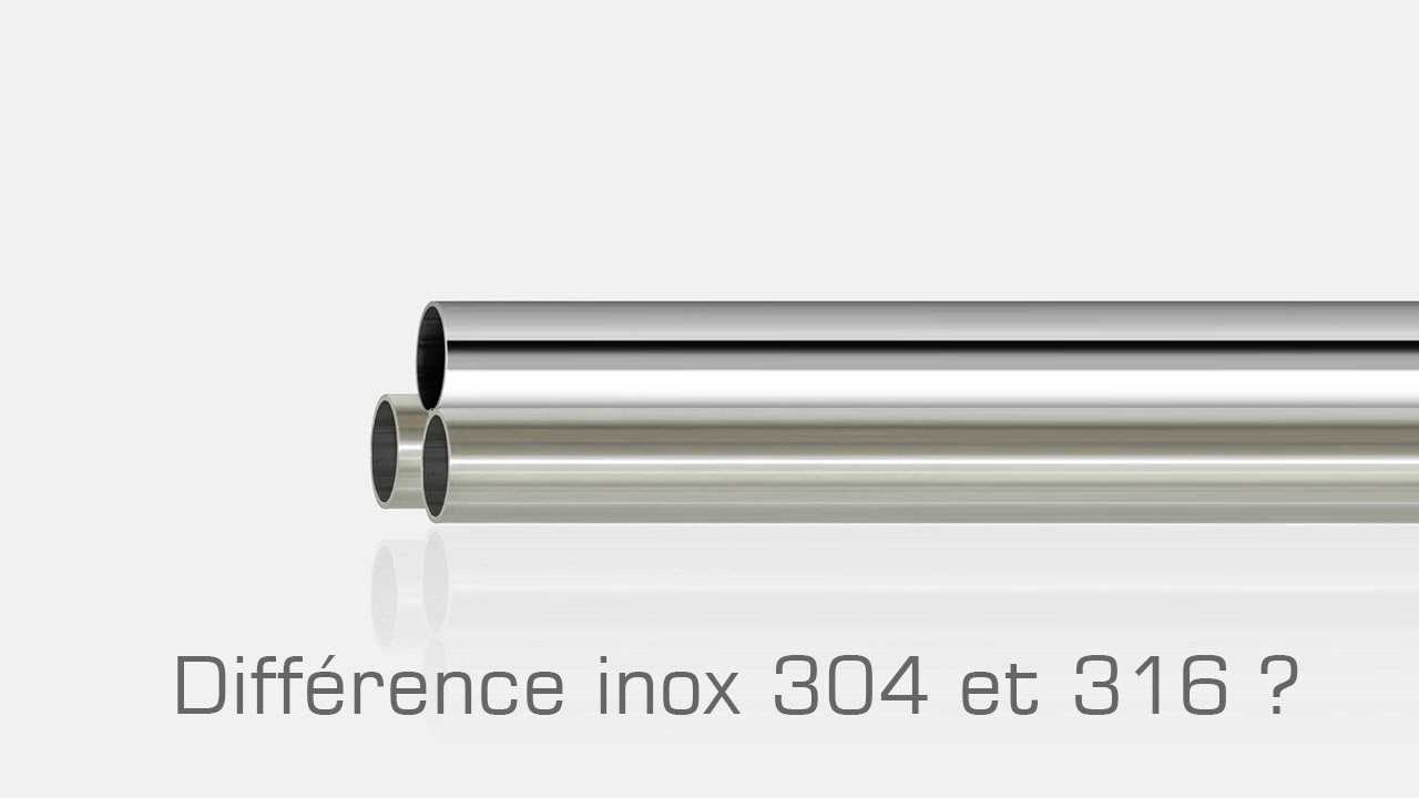 Diff rence entre inox 304 304l et 316 316l bross ou poli for Difference entre pyrolyse et catalyse