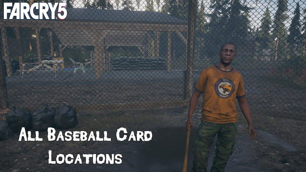 Far Cry 5 George Wilson Grand Slam Questline All 9 Baseball Card Locations