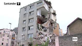 Colapsa el edificio agrietado de la calle del Sol de Santander