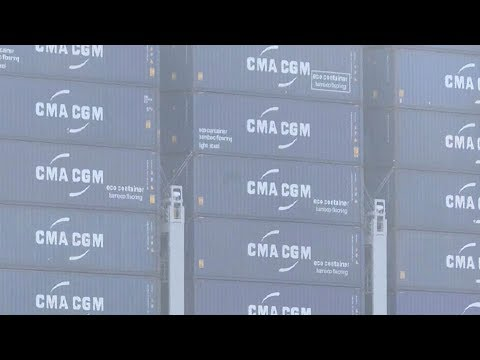 Largest container ship ever arrives in Port of NY, NJ