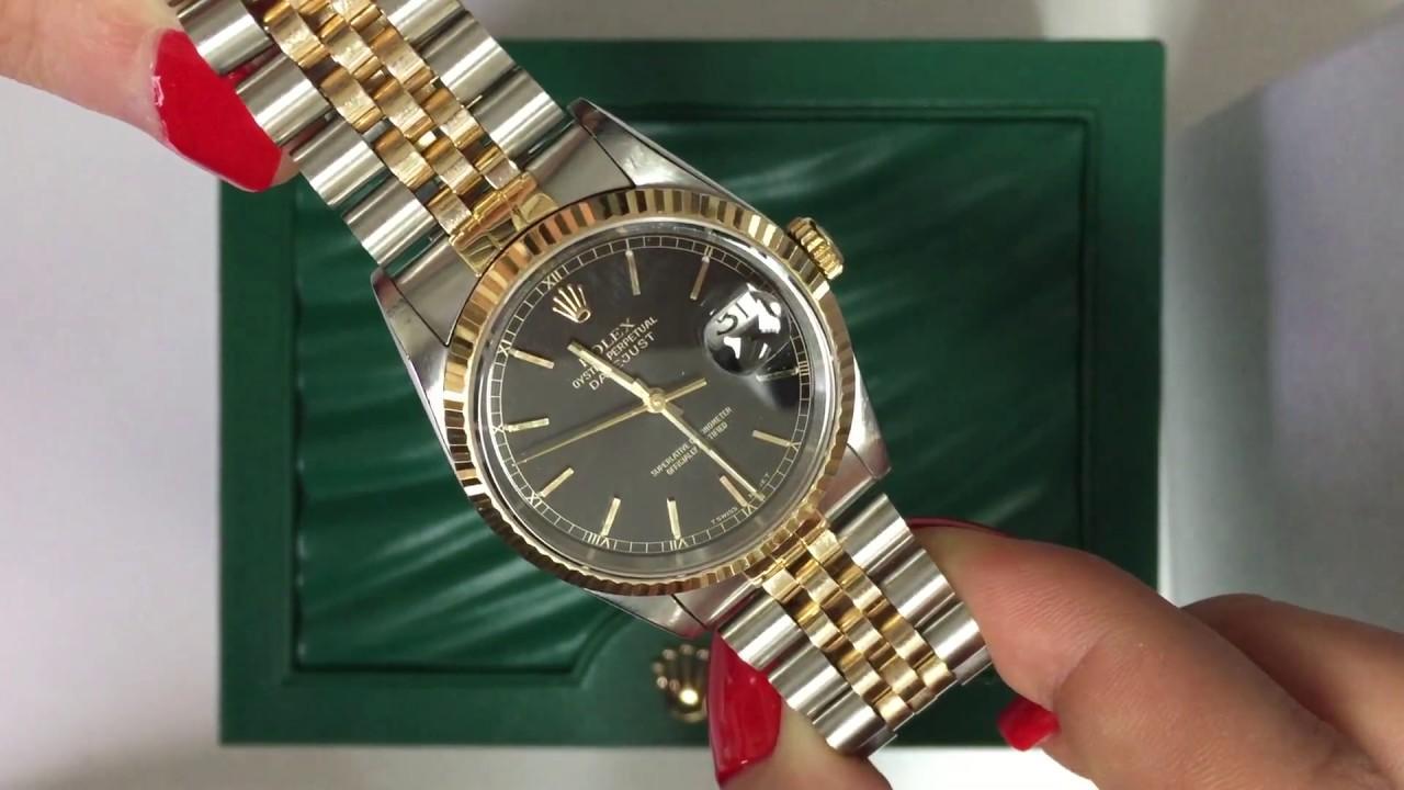 Rolex Datejust 36mm men\u0027s watch two tone Jubilee bracelet