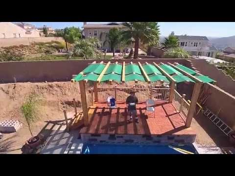 Drone pool deck survey